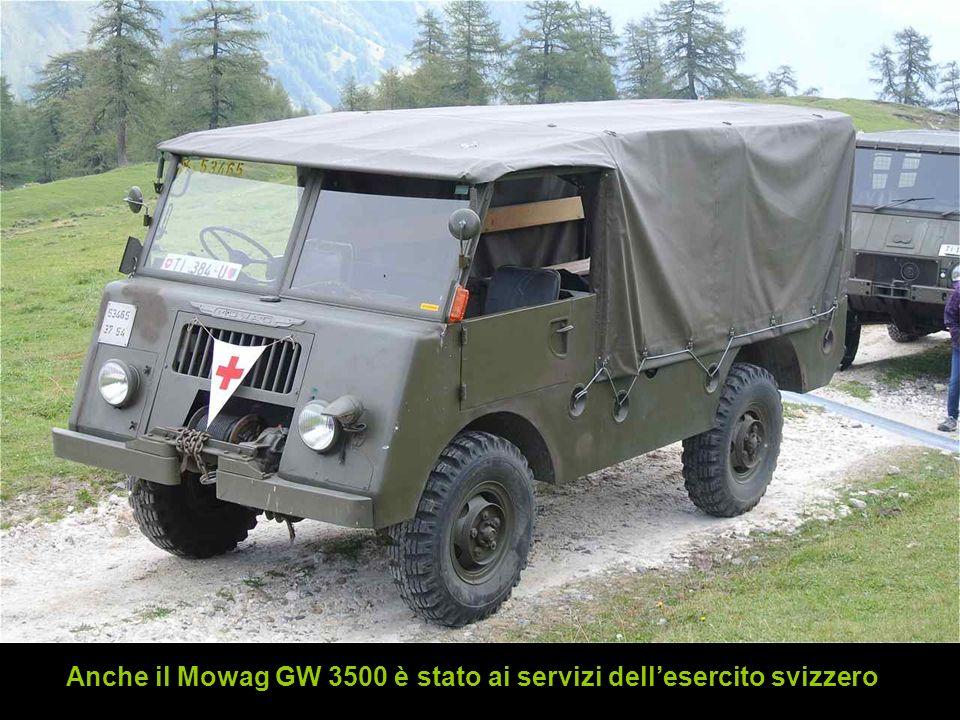 Anche il Mowag GW 3500 è stato ai servizi dellesercito svizzero