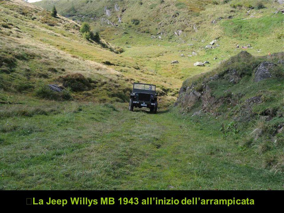 La Jeep Willys MB 1943 allinizio dellarrampicata