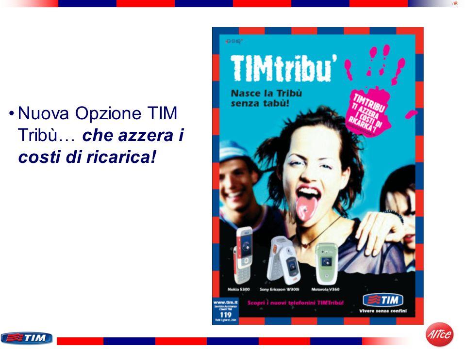 17 Nuova Opzione TIM Tribù… che azzera i costi di ricarica!