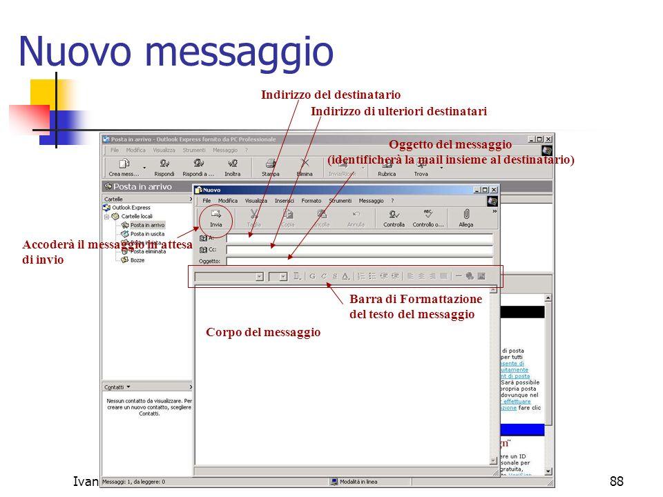 Ivan Renestoivan@renesto.it88 Nuovo messaggio Accoderà il messaggio in attesa di invio Indirizzo del destinatario Indirizzo di ulteriori destinatari O