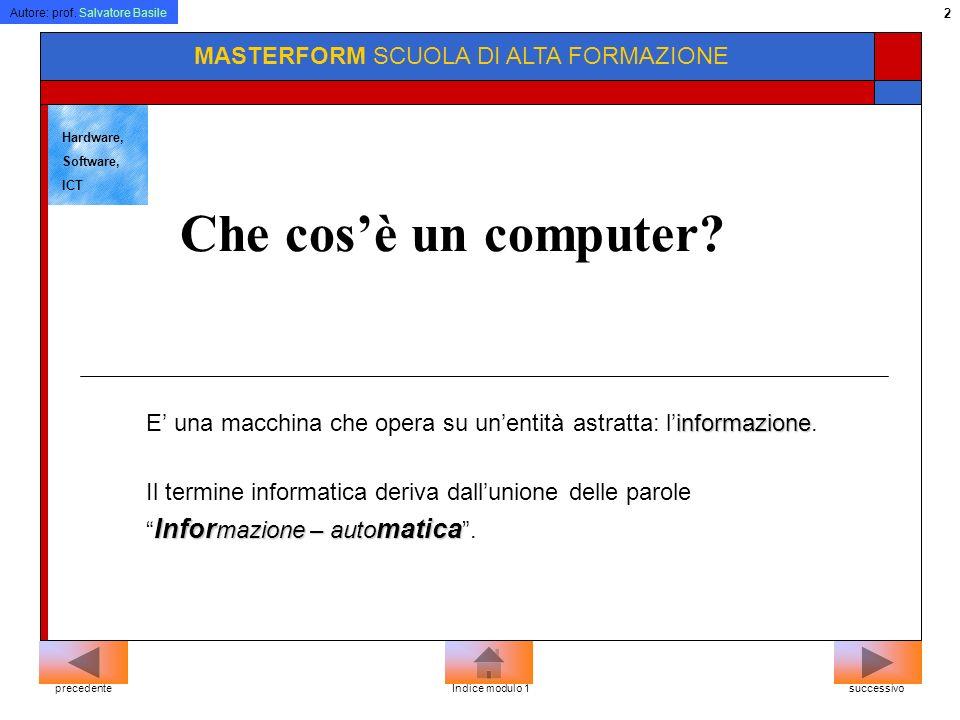 Autore: prof.Salvatore Basile 102 MASTERFORM SCUOLA DI ALTA FORMAZIONE Cosè un link.