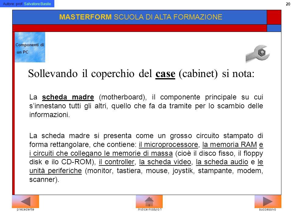 Autore: prof. Salvatore Basile 19 MASTERFORM SCUOLA DI ALTA FORMAZIONE Terminali intelligenti: dotati di una propria capacità di calcolo (es. il compu