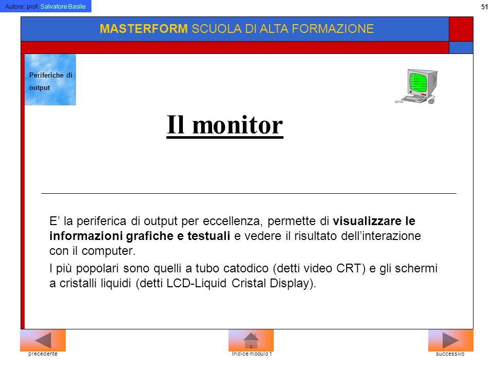 Autore: prof. Salvatore Basile 50 MASTERFORM SCUOLA DI ALTA FORMAZIONE La penna ottica Utilizzata per leggere particolari codici (come il codice a bar