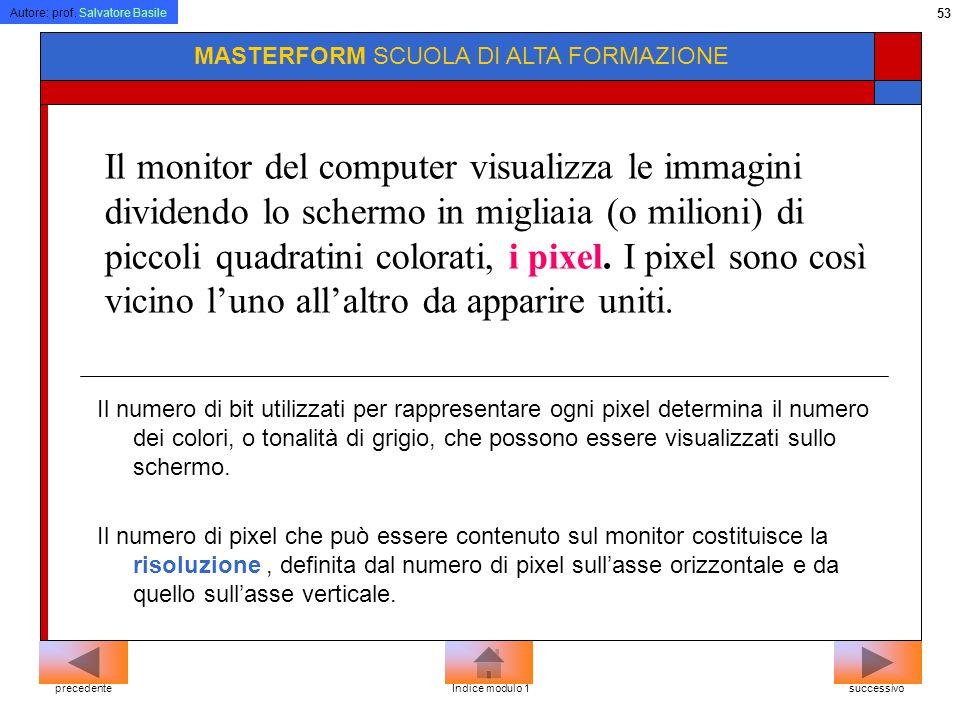 Autore: prof. Salvatore Basile 52 MASTERFORM SCUOLA DI ALTA FORMAZIONECRT LCD successivoprecedenteIndice modulo 1