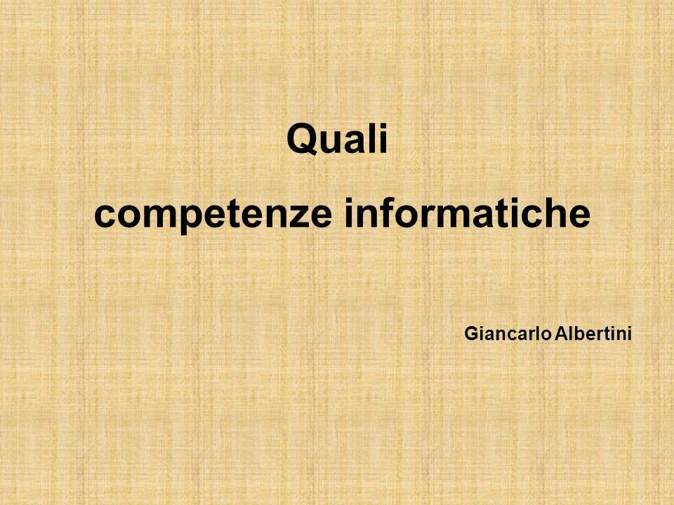 Quali competenze informatiche Giancarlo Albertini