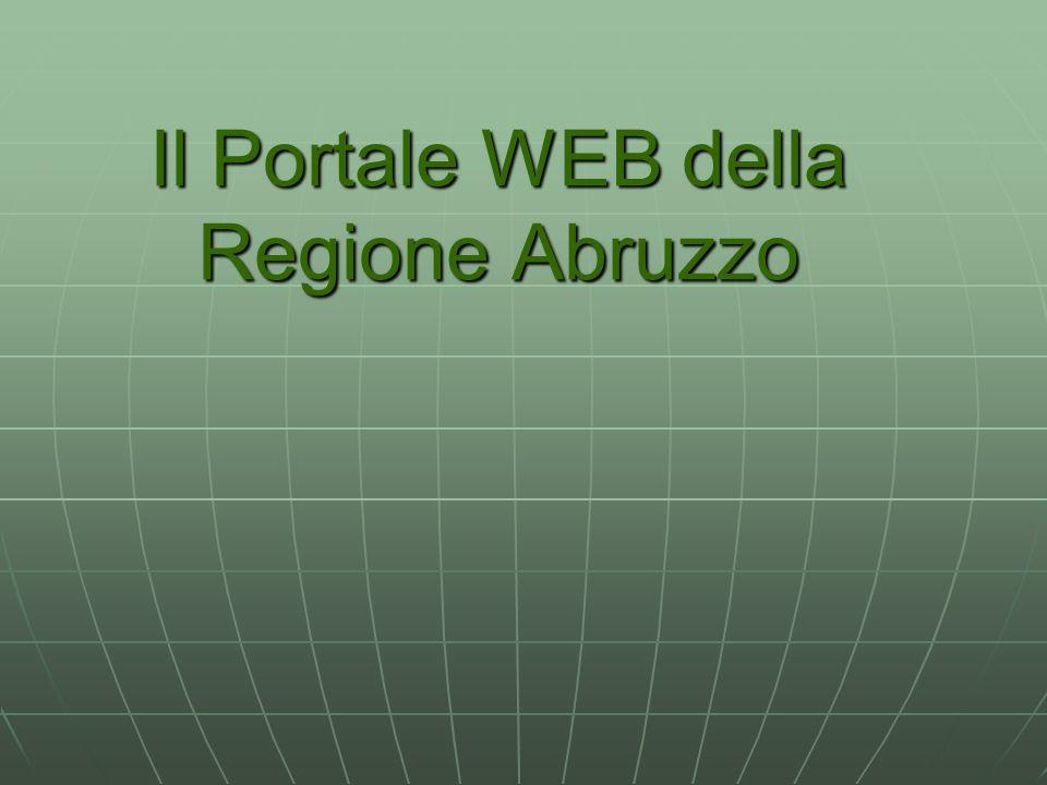 Il Portale WEB della Regione Abruzzo