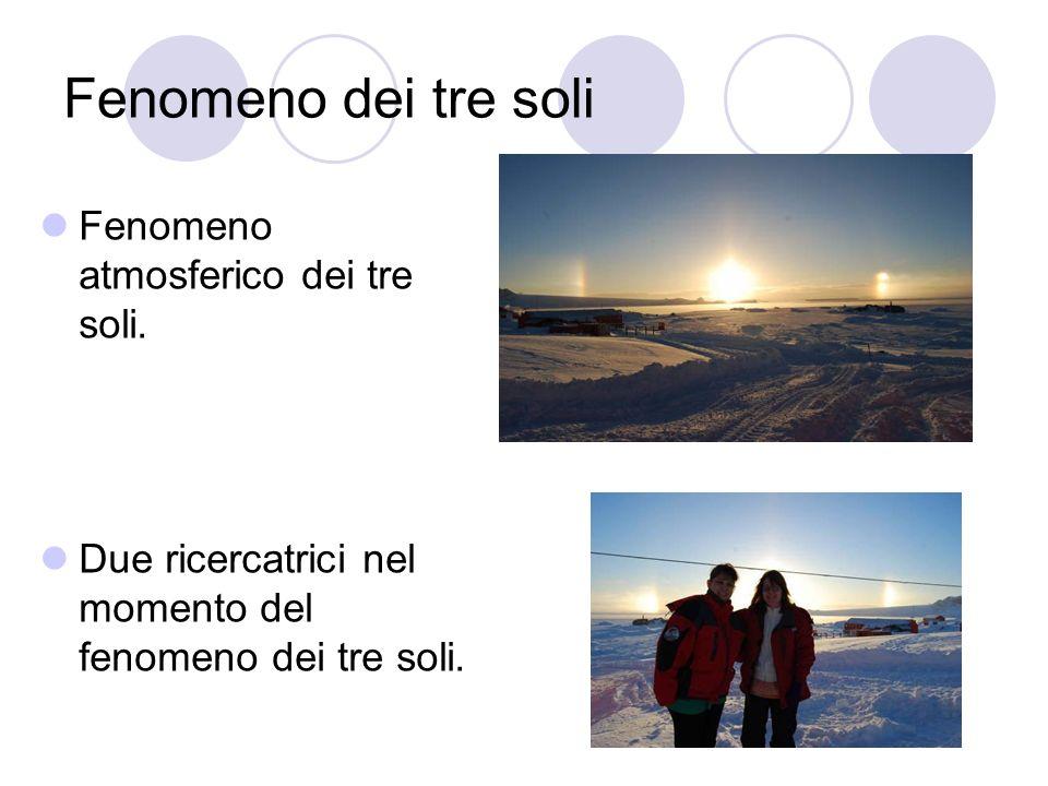 Fenomeno dei tre soli Fenomeno atmosferico dei tre soli.