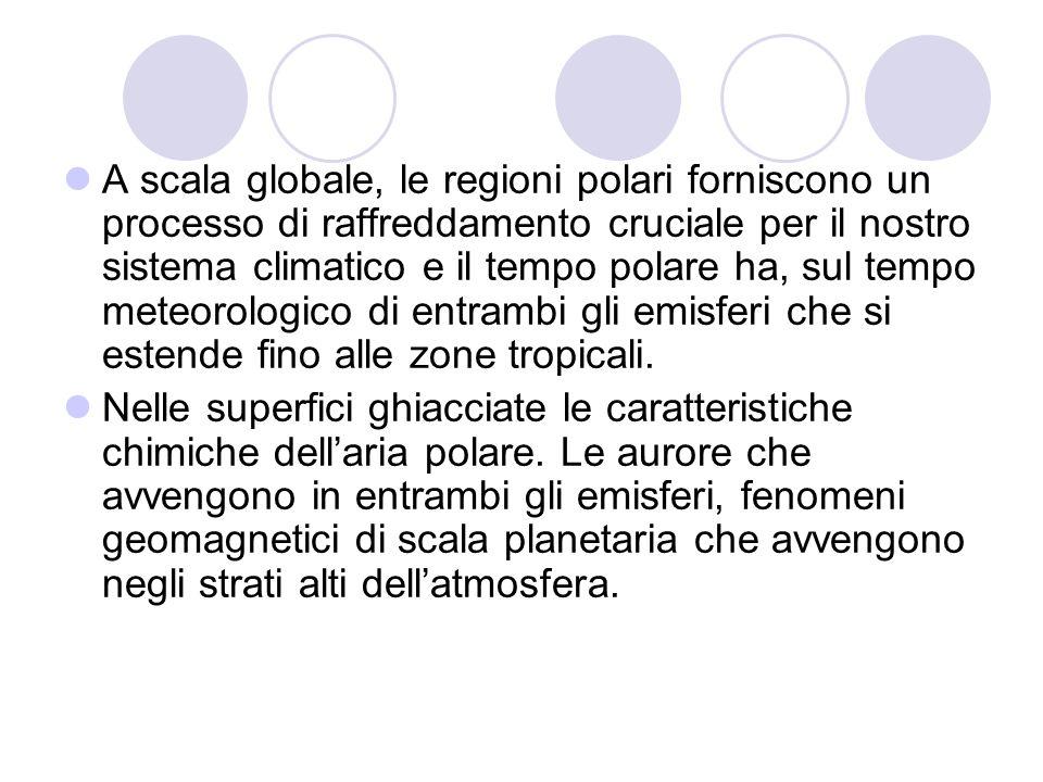 A scala globale, le regioni polari forniscono un processo di raffreddamento cruciale per il nostro sistema climatico e il tempo polare ha, sul tempo meteorologico di entrambi gli emisferi che si estende fino alle zone tropicali.