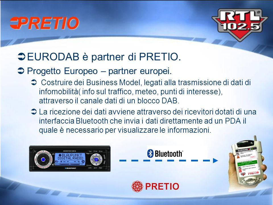 EURODAB è partner di PRETIO. Progetto Europeo – partner europei. Costruire dei Business Model, legati alla trasmissione di dati di infomobilità( info