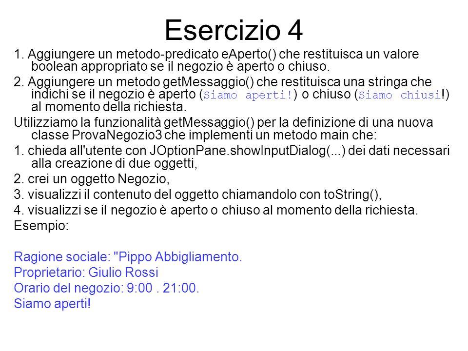 Esercizio 4 1.