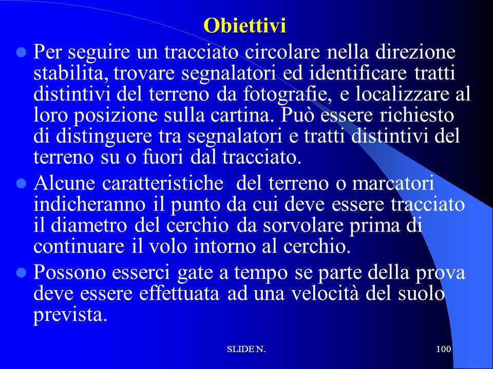 SLIDE N. 99 NAVIGAZIONE CIRCOLARE, DIAMETRO E RITORNO