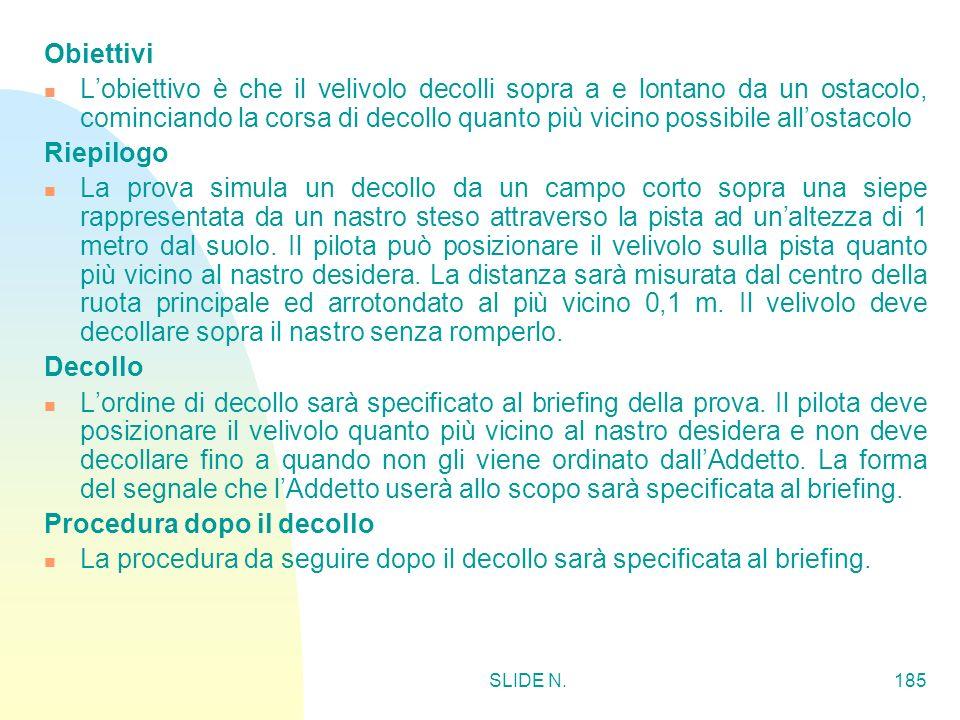 SLIDE N.184 DECOLLO CORTO SOPRA UN OSTACOLO