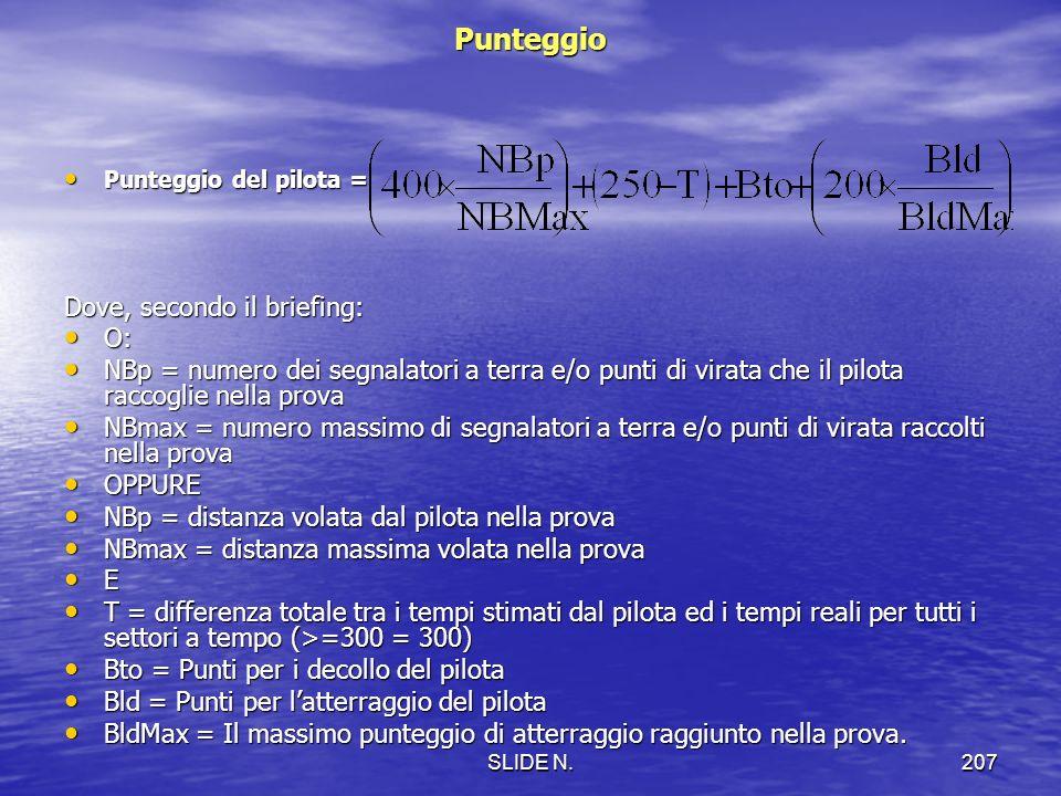 SLIDE N.206 NAVIGAZIONE/VELOCITA STIMATA/PRECISIONE Obiettivo Volare su un percorso tra qualsiasi combinazione di punti di virata, segnalatori e gate,