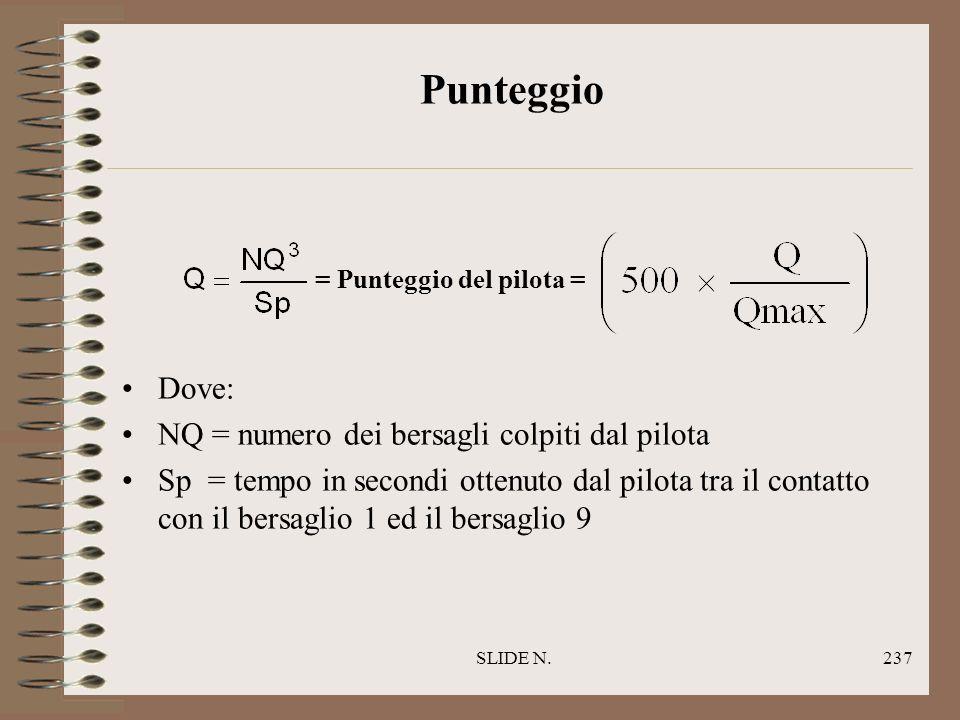 SLIDE N.236 Regole particolari Un colpo sul bersaglio T è valido se il pilota o una qualsiasi parte del PARAMOTORE è stata chiaramente vista toccarlo