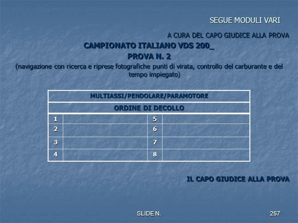 SLIDE N.256 Segue slide n. 15 PENALITA Sul risultato finale potranno essere assegnate le seguenti penalità: Calcolo del punteggio finale: P = Pd + Pa