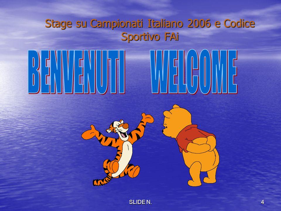 3 Stage su Campionato Italiano 2006 e Codice Sportivo FAI