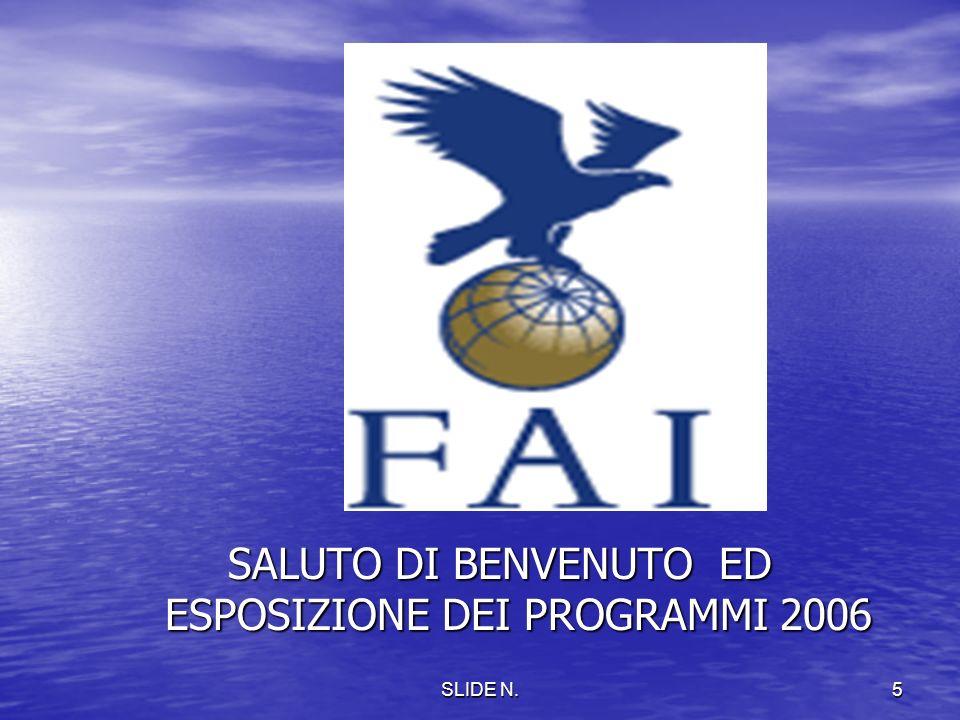 SLIDE N.4 Stage su Campionati Italiano 2006 e Codice Sportivo FAi
