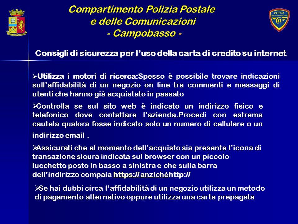Compartimento Polizia Postale e delle Comunicazioni - Campobasso - Utilizza i motori di ricerca:Spesso è possibile trovare indicazioni sullaffidabilit
