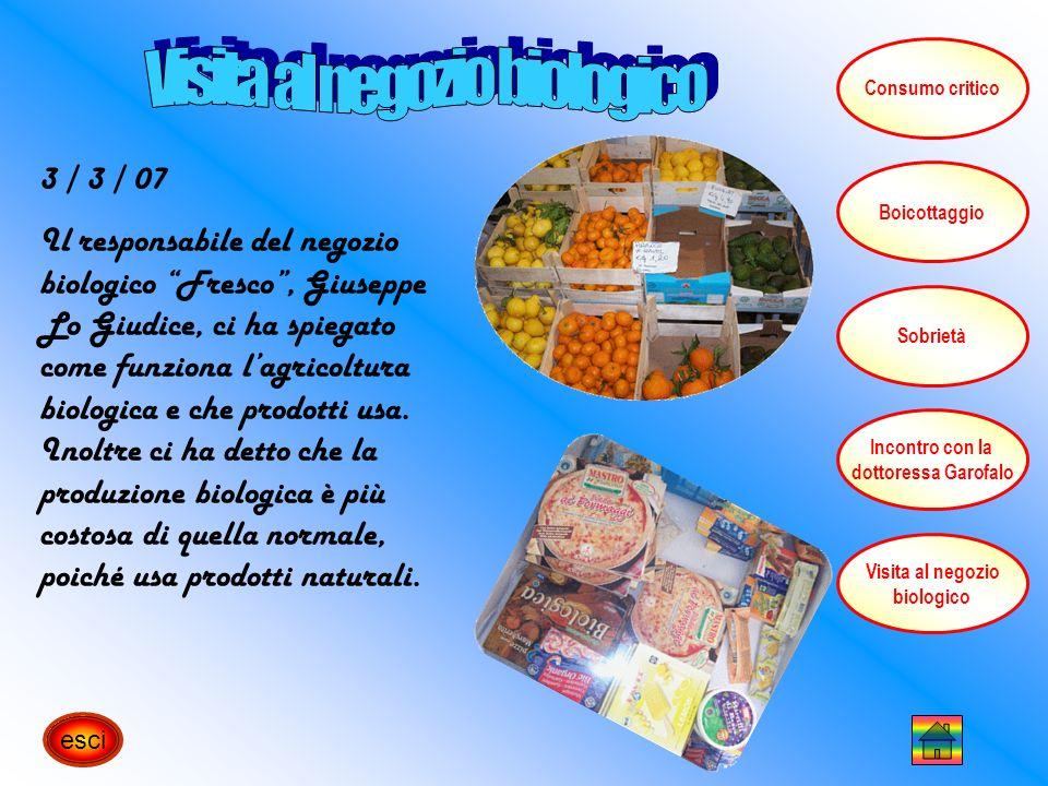 24 / 02 / 07 È importantissima una corretta informazione circa gli alimenti che consumiamo abitualmente.