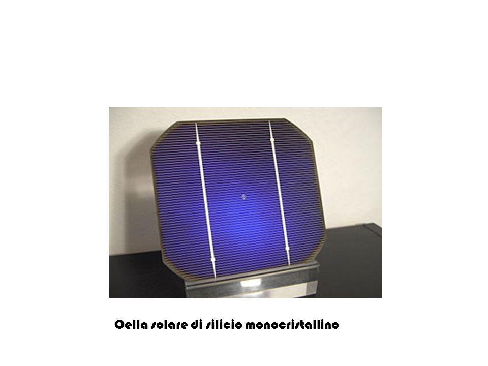 Cella solare di silicio monocristallino