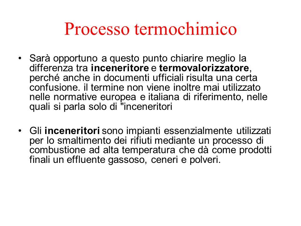 Processo termochimico Sarà opportuno a questo punto chiarire meglio la differenza tra inceneritore e termovalorizzatore, perché anche in documenti uff