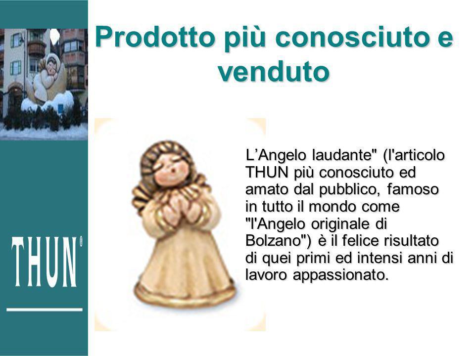 Prodotto più conosciuto e venduto LAngelo laudante (l articolo THUN più conosciuto ed amato dal pubblico, famoso in tutto il mondo come l Angelo originale di Bolzano ) è il felice risultato di quei primi ed intensi anni di lavoro appassionato.