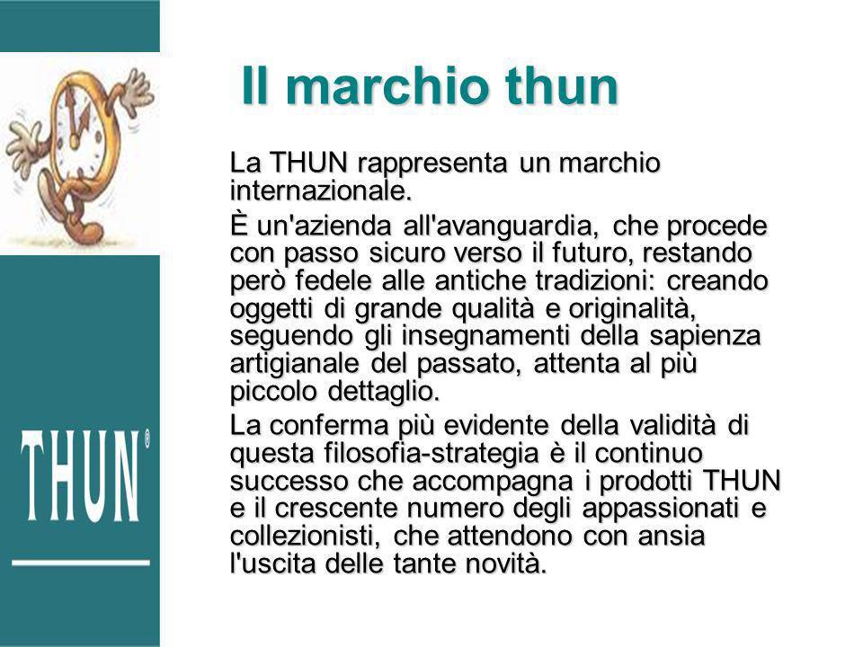 La THUN rappresenta un marchio internazionale. È un'azienda all'avanguardia, che procede con passo sicuro verso il futuro, restando però fedele alle a