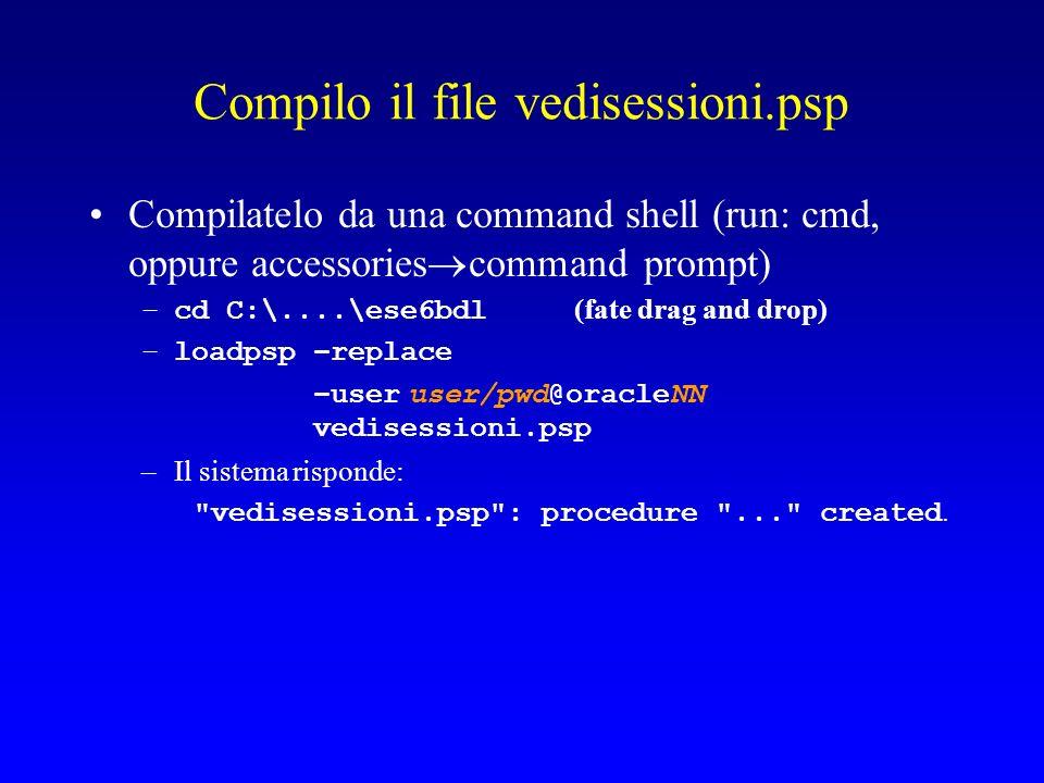 Per usare il progetto Apro un browser allindirizzo: http://www.cli.di.unipi.it/~mioAccount/accessoNe gozio.html