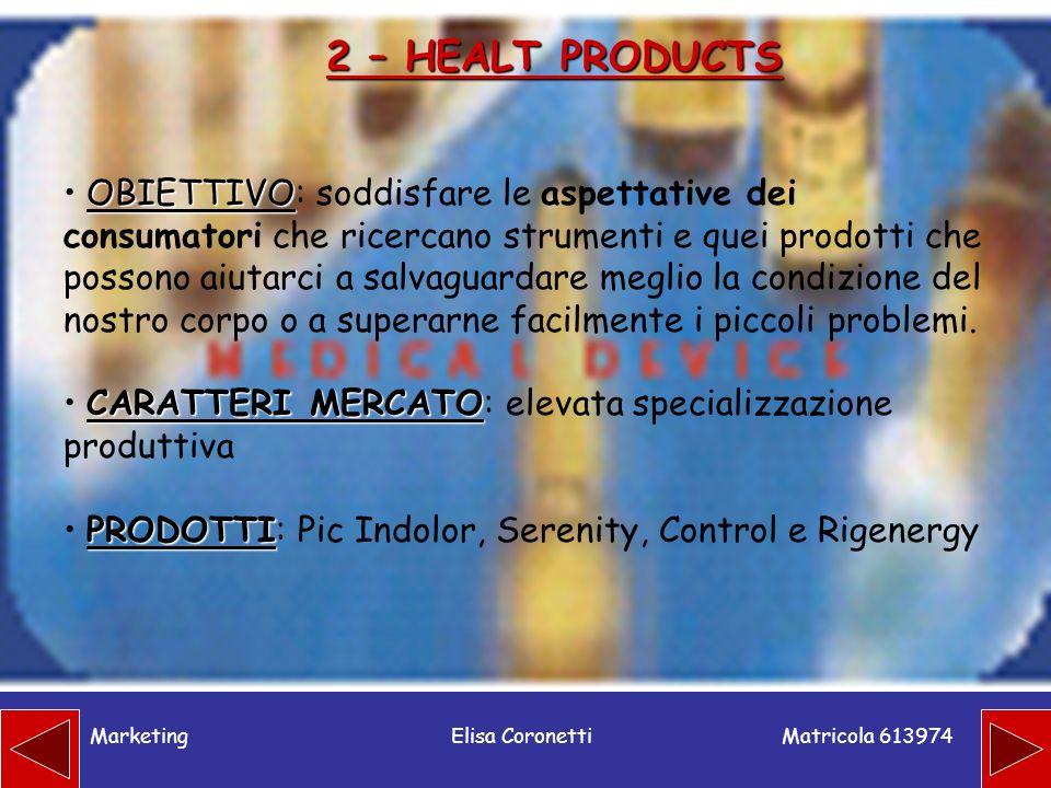 Matricola 613974 MarketingElisa Coronetti OBIETTIVO OBIETTIVO: soddisfare le aspettative dei consumatori che ricercano strumenti e quei prodotti che p