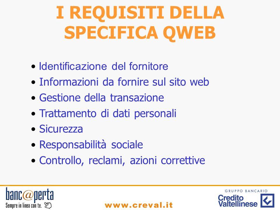 Identificazione del fornitore Informazioni da fornire sul sito web Gestione della transazione Trattamento di dati personali Sicurezza Responsabilità s