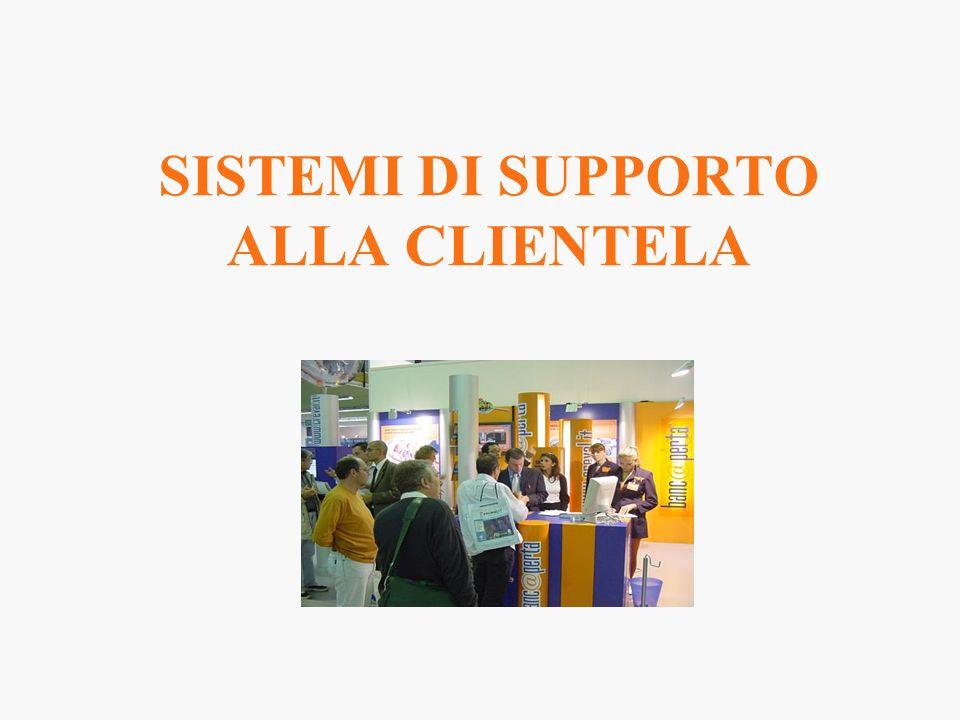 SISTEMI DI SUPPORTO ALLA CLIENTELA