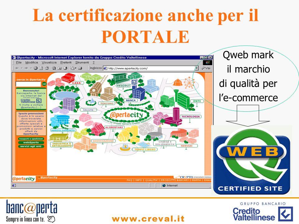 La certificazione anche per il PORTALE Qweb mark il marchio di qualità per le-commerce