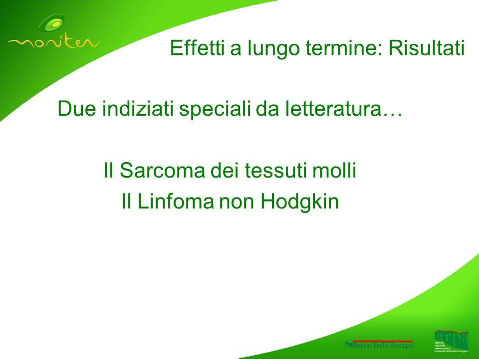 Due indiziati speciali da letteratura… Il Sarcoma dei tessuti molli Il Linfoma non Hodgkin Effetti a lungo termine: Risultati