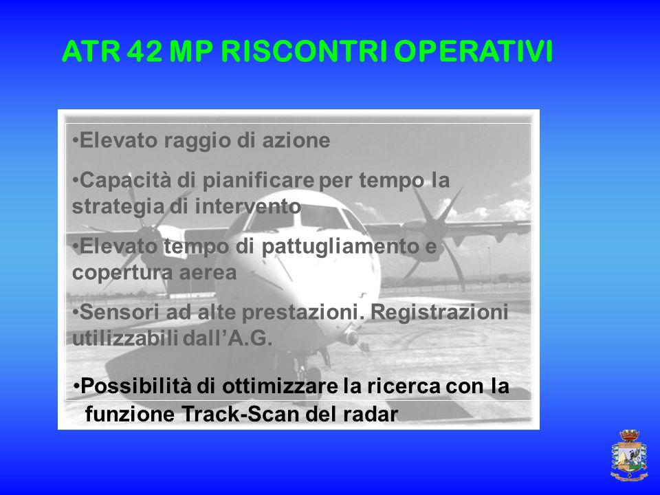 Elevato raggio di azione Capacità di pianificare per tempo la strategia di intervento Elevato tempo di pattugliamento e copertura aerea Sensori ad alt