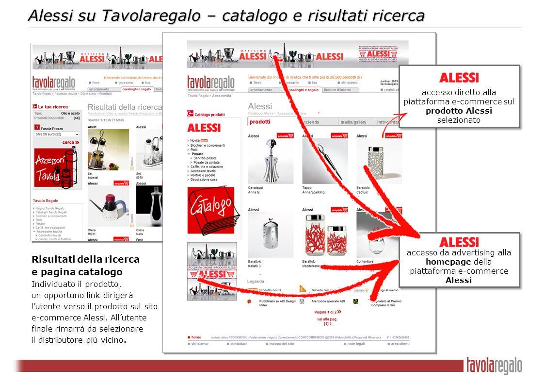 accesso da advertising alla homepage della piattaforma e-commerce Alessi Alessi su Tavolaregalo – catalogo e risultati ricerca accesso diretto alla pi