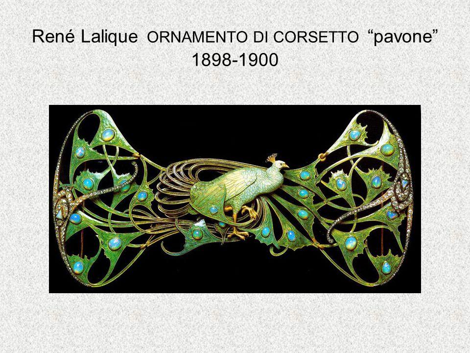 René Lalique ORNAMENTO DI CORSETTO pavone 1898-1900