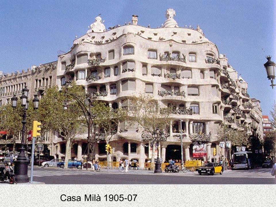 Casa Milà 1905-07