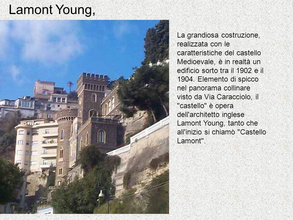La grandiosa costruzione, realizzata con le caratteristiche del castello Medioevale, è in realtà un edificio sorto tra il 1902 e il 1904. Elemento di