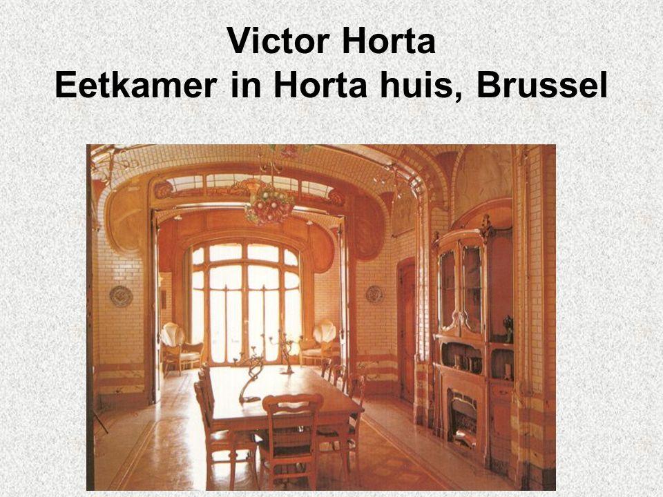 Victor Horta Eetkamer in Horta huis, Brussel