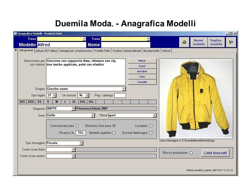 Duemila Moda ® - Anagrafica Modelli