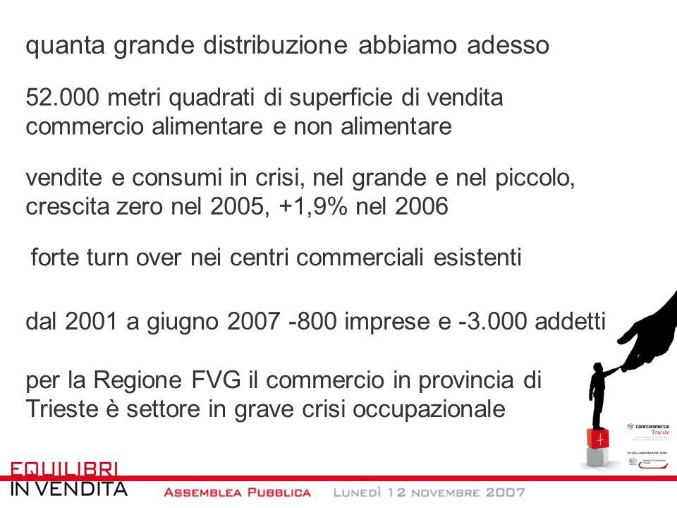 considerazioni finali nel 2007 più vendite nei piccoli negozi in FVG la grande distribuzione perde occupazione in altri Paesi tendenze in atto da tempo, ma si stanno trovando anche i rimedi (v.