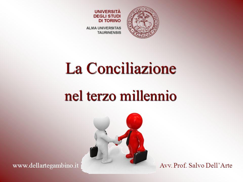 La Conciliazione nel terzo millennio Avv. Prof. Salvo DellArtewww.dellartegambino.it