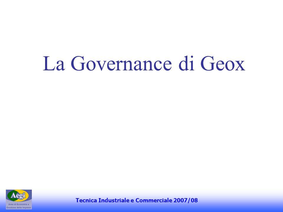 La Governance di Geox Tecnica Industriale e Commerciale 2007/08