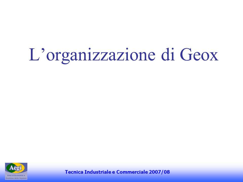 Lorganizzazione di Geox Tecnica Industriale e Commerciale 2007/08
