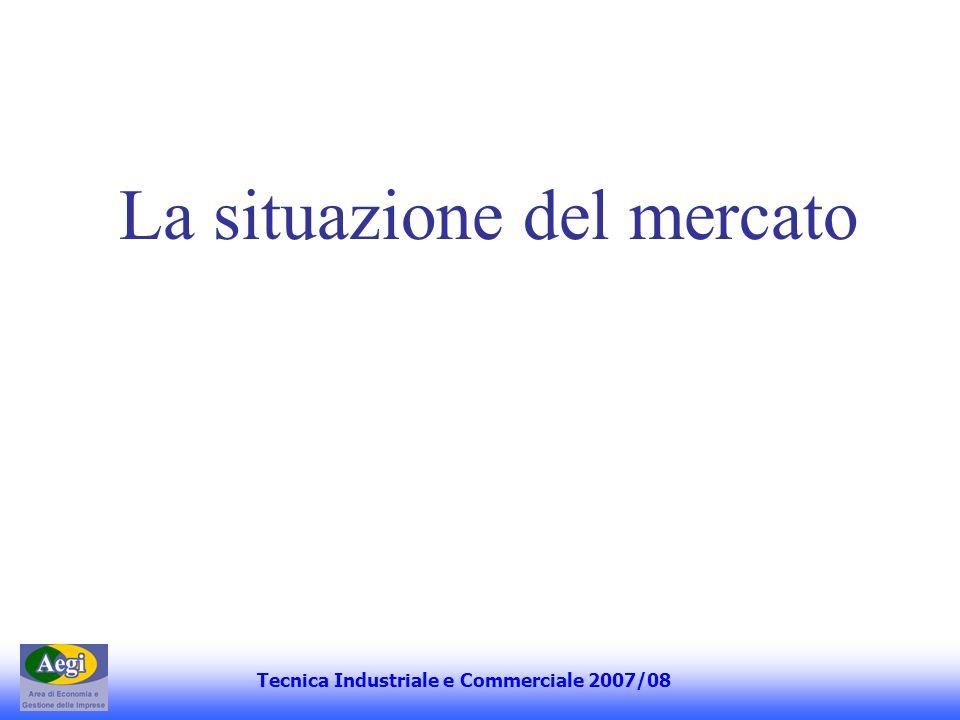 La situazione del mercato Tecnica Industriale e Commerciale 2007/08
