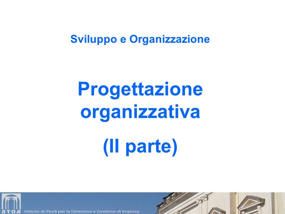 Sviluppo e Organizzazione Progettazione organizzativa (II parte)