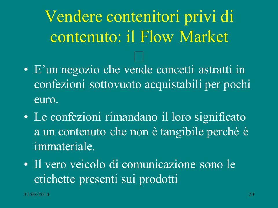 Vendere contenitori privi di contenuto: il Flow Market Eun negozio che vende concetti astratti in confezioni sottovuoto acquistabili per pochi euro.