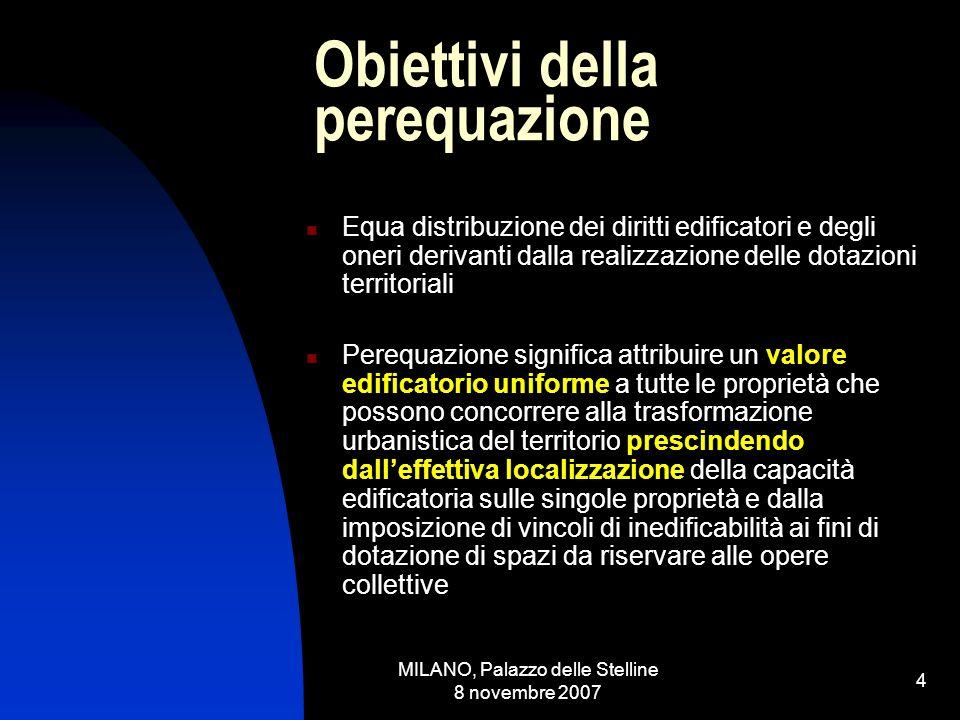 MILANO, Palazzo delle Stelline 8 novembre 2007 3 Premessa Ricostruzione del fenomeno in termini generali al fine di evidenziare i principi da applicare alle diverse realtà regionali Potere legislativo regionale in materia urbanistica