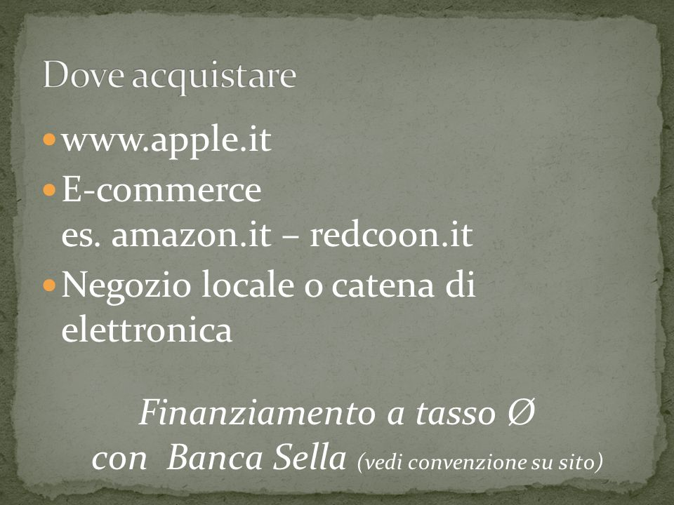 www.apple.it E-commerce es.