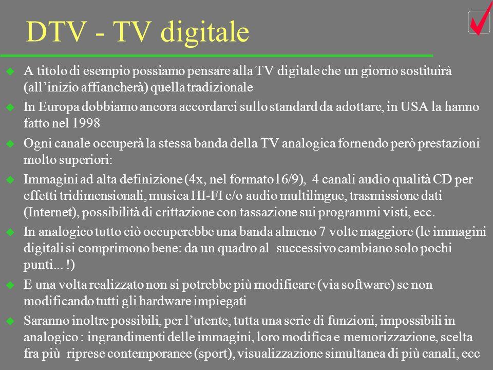 33 Multimedialità tutto bit u Infine il grande vantaggio dovuto al fatto che tutto si può ridurre in bit u Linformazione, di qualsiasi natura sia, si può digitalizzare: testi, immagini, suoni, dati, ecc.